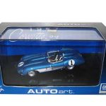1957 Chevrolet Corvette SS  Blue 1/43 Diecast Model Car by Autoart
