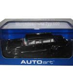 Mercedes Typ 600 Limousine Black 1/43 Diecast Model Car by Autoart