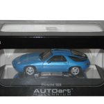 Porsche 928 Blue 1/43  Diecast Model Car by Autoart