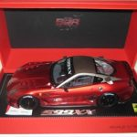 2009 Ferrari 599XX Race Version Metallic Red F1 2007/Matt Grey Limited Edition 1 of 250 1/18 Diecast Car Model by BBR