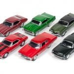 Muscle Cars USA Set of 6 cars 1/64 Diecast Model Cars by Johnny Lightning