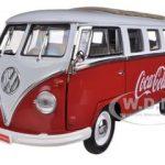 1962 Volkswagen Samba Bus Van Coca Cola Red/White 1/18 by Motorcity Classics