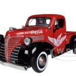 1941 Plymouth Pickup Truck Red Coca Cola 1/24 Diecast Car Model by Motorcity Classics