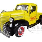 1941 Plymouth Pickup Truck Yellow Coca Cola 1/24 Diecast Car Model by Motorcity Classics