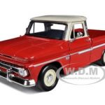 1966 Chevrolet C10 Fleetside Pickup Truck Red / Cream 1/24 Diecast Model by Motormax