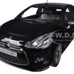 2013 Citroen DS3 A56 Cabrio Black 1/18 Diecast Car Model by Norev