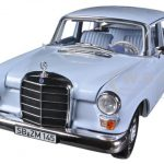 1966 Mercedes 200 Sedan Light Blue 1/18 Diecast Car Model by Norev