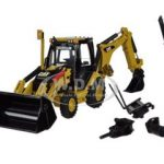 CAT Caterpillar 420E Center Pivot Backhoe Loader with Working Tools 1/50 Diecast Model by Norscot
