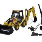 CAT Caterpillar 432E Side Shaft Backhoe Loader with Working Tools 1/50 Diecast Model by Norscot