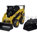 CAT Caterpillar 272C Skid Steer Loader With Working Tools 1/32 Diecast Model by Norscot