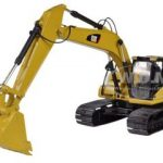 CAT Caterpillar 323D L Hydraulic Excavator with Metal Tracks 1/50 Diecast Model by Norscot