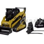 CAT Caterpillar 299C Compact Track Loader With Working Tools 1/32 Diecast Model by Norscot