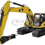 CAT Caterpillar 323D L Hydraulic Excavator with CAT H120E Hydraulic Hammer 1/50 Diecast Model by Norscot