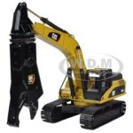CAT Caterpillar 336D L Hydraulic Excavator with CAT S365C Scrap and Demolition Shear 1/50 Diecast Model by Norscot