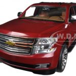2015 Chevrolet Tahoe LTZ in Crystal Claret Tintcoat (red) with Cocoa / Saddle Brown Interior 1/24 by Norscot