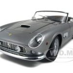 Ferrari 250 California Spider SWB Gray Elite Edition 1/18 Diecast Car Model by Hotwheels
