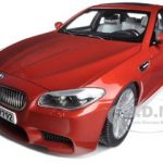 2012 BMW M5 (F10M) Sakhir Orange 1/18 Diecast Model Car by Paragon Models
