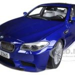 2012 BMW M5 (F10M) San Marino Blue 1/18 Diecast Model Car by Paragon Models