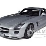 2009 Mercedes SLS AMG Gullwing Silver Limited Edition 1 of 1000 Produced Worldwide 1/12 Diecast Model Car by Premium Classixxs