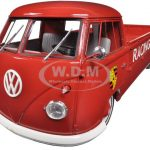 Volkswagen T1 Pickup Porsche 550 Racing Service Platform Red 1962 Limited to 500pc 1/18 Model Car by Premium Classixx