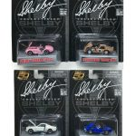 Carroll Shelby 50th Anniversary 4 Pieces Set 1/64 Diecast Car Models by Shelby Collectibles