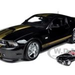 2012 Shelby Mustang GT350 Black with Gold Stripes with 1/64 1962 Shelby Cobra 50th Anniversary Edition 1 of 250 Produced Worldwide and Certificate of Authenticity 1/18 by Shelby Collectibles