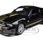 2012 Shelby Mustang GT350 Black with Gold Stripes 1/18 Diecast Model Car by Shelby Collectibles