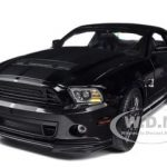 2013 Ford Shelby Cobra GT500 SVT Black with Black Stripes 1/18 Diecast Car Model by Shelby Collectibles
