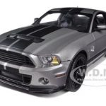 2013 Ford Shelby Mustang Cobra GT500 Grey With Black Stripes 1/18 Diecast Model Car by Shelby Collectibles