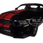 2013 Ford Shelby Mustang Cobra GT500 SVT Black with Red Stripes 1/18 Diecast Model Car by Shelby Collectibles