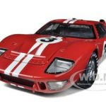 1966 Ford GT-40 MK 2 Red #3 1/18 Diecast Car Model by Shelby Collectibles