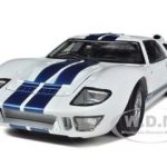 1966 Ford GT-40 MK 2 White 1/18 Diecast Car Model by Shelby Collectibles
