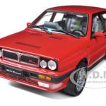 1990 Lancia Delta HF Integrale 8V Red 1/18 Diecast Model Car by Sunstar