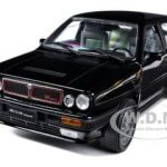 1990 Lancia Delta HF Integrale 8V Black 1/18 Diecast Model Car by Sunstar