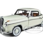 1958 Mercedes 220SE Coupe Ivory 1/18 Diecast Car Model by Sunstar