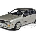 1981 Audi Quattro Coupe Silver 1/18 Diecast Car Model by Sunstar
