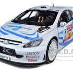 Peugeot 307 WRC #5 S.Sarrazin/J.Renucci 2nd Rallye du Var 2011 Limited to 559pc 1/18 Diecast Model Car by Sunstar