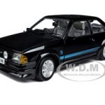 1984 Ford Escort RS Turbo Black 1/18 Diecast Car Model by Sunstar