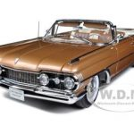 1959 Oldsmobile 98 Open Convertible Bronze Mist Metallic 1/18 Diecast Model Car by Sunstar
