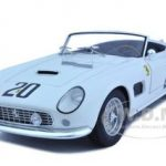Ferrari 250 California SWB Lemans 1969 White #20 Elite Edition 1/18 Diecast Car Model by Hotwheels