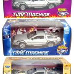 Collect All 3pc Set Delorean Time Machine Trilogy Set Back To The Future 123 1/24 by Welly