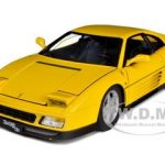 1989 Ferrari 348 TB Yellow Elite Edition 1/18 Diecast Car Model by Hotwheels