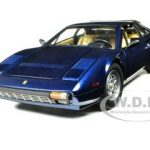 Ferrari 308 GTB Blue 1/18 Diecast Car Model by Hotwheels