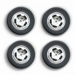 1978 Ford Mustang II Cobra Five Slot Performance Wheels and Tires Set 1/18 by Greenlight