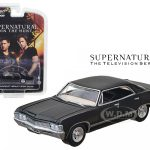 1967 Chevrolet Impala Sedan 4 Doors Black From Supernatural 2005 Current TV Series 1/64 Diecast Model Car by Greenlight