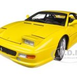 Ferrari F355 Berlinetta Yellow Elite Edition 1/18 Diecast Car Model by Hotwheels