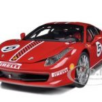 Ferrari 458 Italia Challenge Red #5 Elite Edition Limited Edition 1/18 Diecast Model Car by Hotwheels