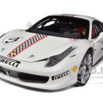 Ferrari 458 Italia Challenge White #3 Elite Edition 1/18 Diecast Car Model by Hotwheels