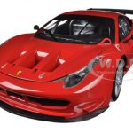 Ferrari 458 Italia GT2 Rosso Corsa Red 1/18 Diecast Car Model by Hotwheels