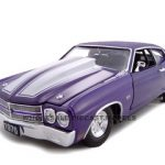 1970 Chevrolet Chevelle SS 454 Purple Pro Street 1/24 Diecast Car Model by Unique Replicas